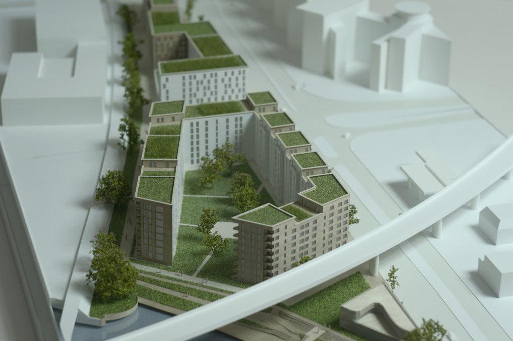 Makieta architektoniczna - Budynek nad wodą Hamburg